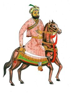 'Hem_Chandra_Vikramaditya'_Painting_on_Horse
